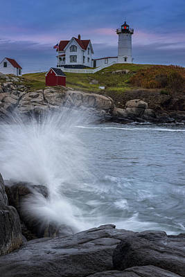 Cape Neddick Lighthouse Photograph - Cape Neddick Dusk by Rick Berk