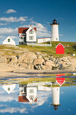 Nubble Lighthouse Photograph - Cape Neddick Light  Reflections by Emmanuel Panagiotakis