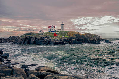 Landscape Photograph - Cape Neddick Lighthouse by Erwin Spinner