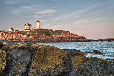 Cape Neddick Lighthouse From The Rocks Print by At Lands End Photography