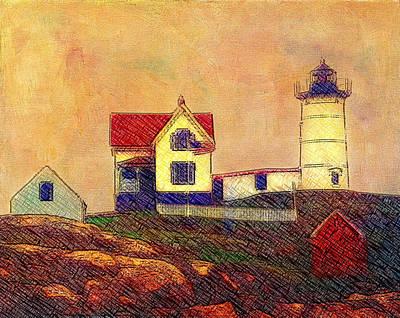 Cape Neddick Lighthouse Art Print by Melinda Dreyer