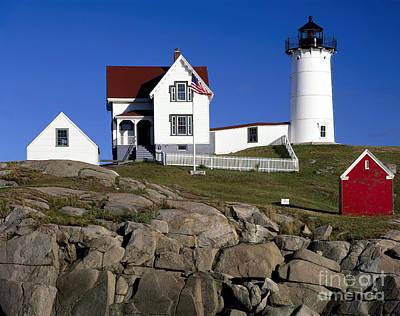 Cape Neddick Lighthouse Art Print by Rafael Macia