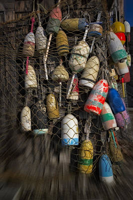 Photograph - Cape Neddick Lobster Buoys by Susan Candelario