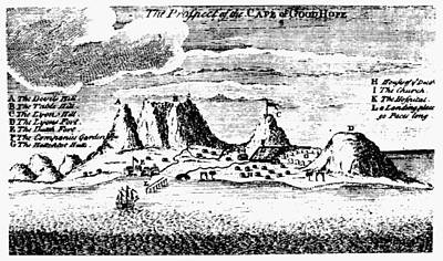Photograph - Cape Of Good Hope, 1731 by Granger