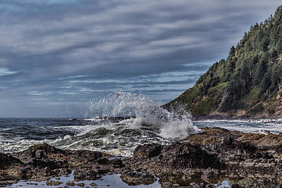 Photograph - Cape Perpetua Waves by Wes and Dotty Weber