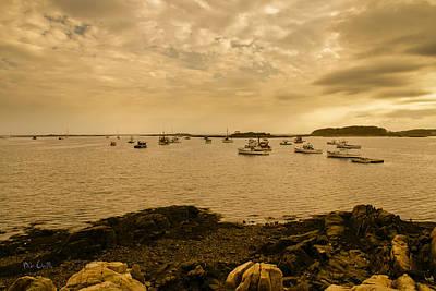 Boat Photograph - Cape Porpoise Sunset by Bob Orsillo