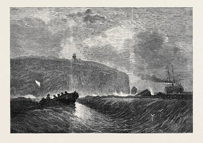 Newfoundland Drawing - Cape Race Newfoundland The Termination Of The American by English School