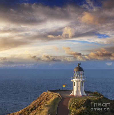 New Zealand Photograph - Cape Reinga Lighthouse Northland New Zealand by Colin and Linda McKie