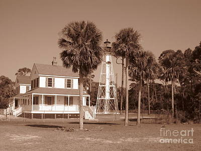 Florida Photograph - Cape San Blas Light by Megan Cohen