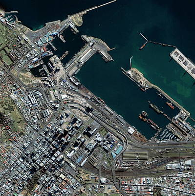 South Dock Wall Art - Photograph - Cape Town Docks by Geoeye/science Photo Library