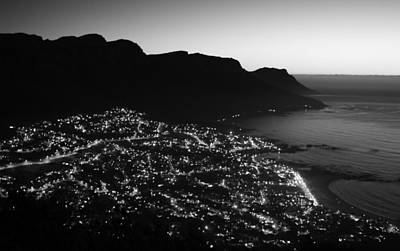 Photograph - Cape Town Lights by Aidan Moran