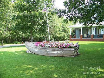 Cape Vincent Flowerboat Art Print by Kevin Croitz