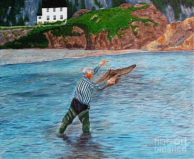 Painting - Capelin Cast by Barbara Griffin