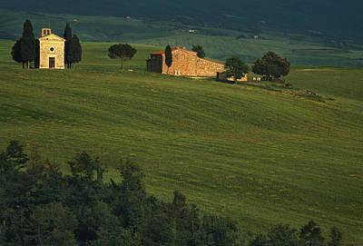 Country Scene Photograph - Capella Vitaleta by Andrew Soundarajan