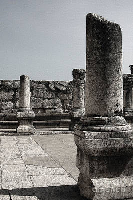 Photograph - Capernaum Columns by Tom Griffithe