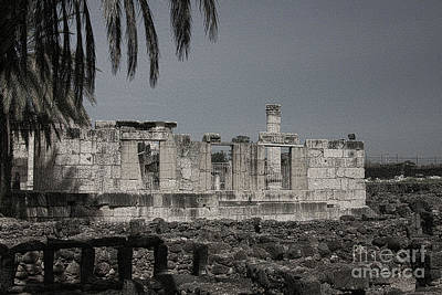 Photograph - Capernaum Synagogue by Tom Griffithe