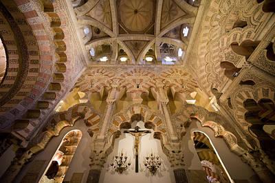 Crucifix Art Photograph - Capilla De Villaviciosa In The Great Mosque Of Cordoba by Artur Bogacki