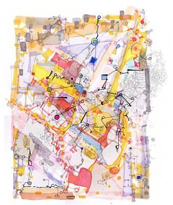 Drawing - Capillarity And Diffusion by Regina Valluzzi