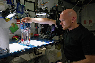 Astronauts Photograph - Capillary Flow Experiment In Space by Nasa