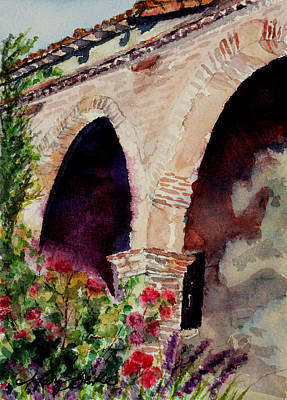San Juan Painting - Capistrano Arches by Mary Benke
