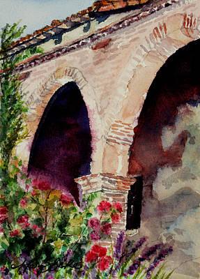 Capistrano Arches Original by Mary Benke