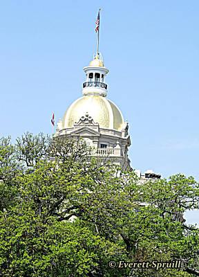 Capital Building Savannah Georgia Art Print