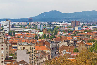 Photograph - Capital Of Croatia Zagreb Western Part by Brch Photography