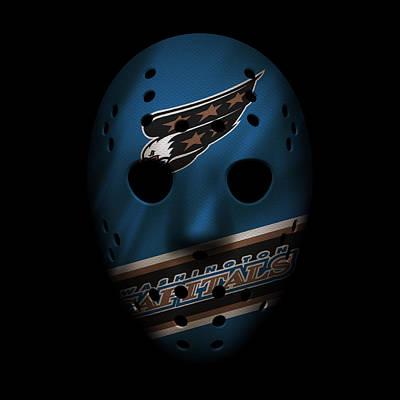 Washington Capitals Photograph - Capitals Jersey Mask by Joe Hamilton