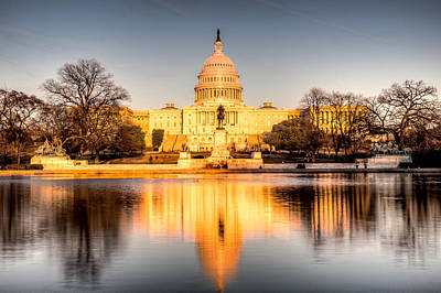 Photograph - Capitol At Dusk by Walt  Baker