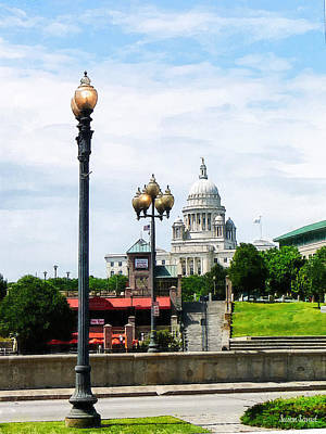 Capitol Building Seen From Waterplace Park Art Print by Susan Savad