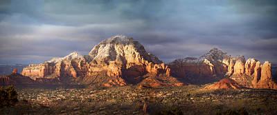 Desert Sunset Digital Art - Capitol Butte In West Sedona by Anita Hubbard