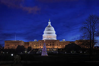 Photograph - Capitol Christmas - 2013 by Metro DC Photography