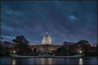 Photograph - Capitol Clouds by Erika Fawcett
