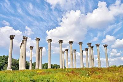 Photograph - Capitol Columns At The National Arboretum by Jean Goodwin Brooks