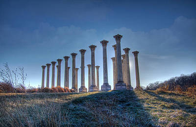 Art Print featuring the photograph Capitol Columns by Michael Donahue