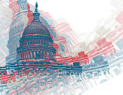 Capitol Building Digital Art - Capitol Crisis by Phil Perkins