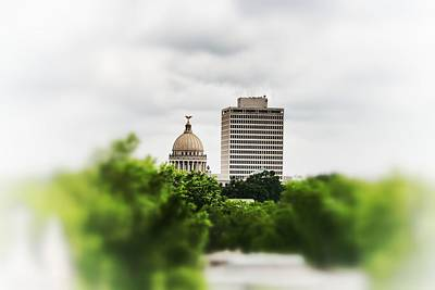 Photograph - Capitol Dome And Sillers Buildign by Jim Albritton