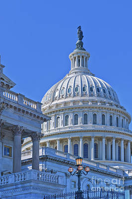 Photograph - Capitol Dome Washington Dc District Of Columbia  by David Zanzinger