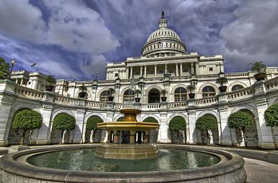 Capitol Fountain Art Print
