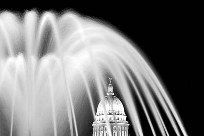 Senate Photograph - Capitol Fountain by Todd Klassy