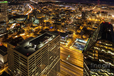 Capitol Hill Night View Art Print