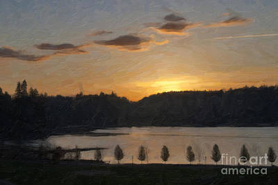 Photograph - Capitol Lake Sunset by Susan Parish