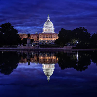 Capitol Building Digital Art - Capitol Morning by Metro DC Photography