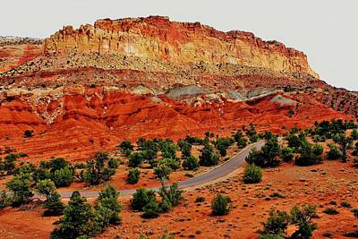 Photograph - Capitol Reef Crossroad by Benjamin Yeager