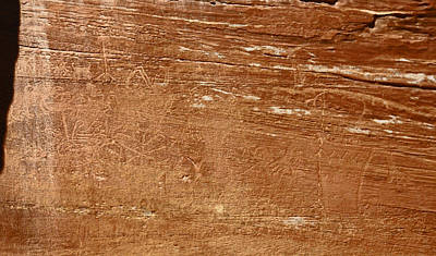 Photograph - Capitol Reef Np Petroglyph by Jean Clark