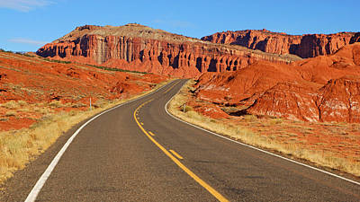 Photograph - Capitol Reef Road I by Daniel Woodrum