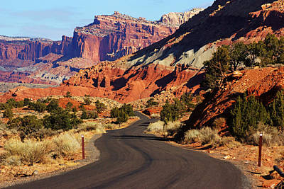 Photograph - Capitol Reef Road II by Daniel Woodrum