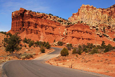 Photograph - Capitol Reef Road V by Daniel Woodrum