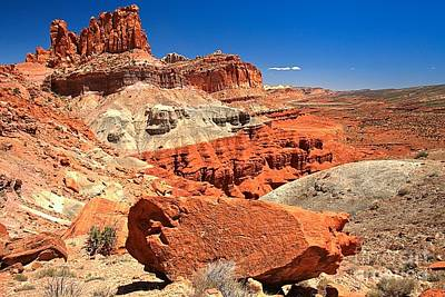 Photograph - Capitol Reef Waterpocket Fold by Adam Jewell