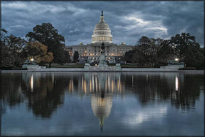 Photograph - Capitol Storm by Erika Fawcett